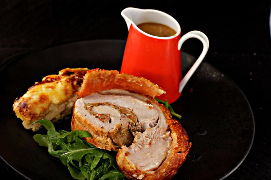 Roast Pork Loin Stuffed with Sausage and Fennel