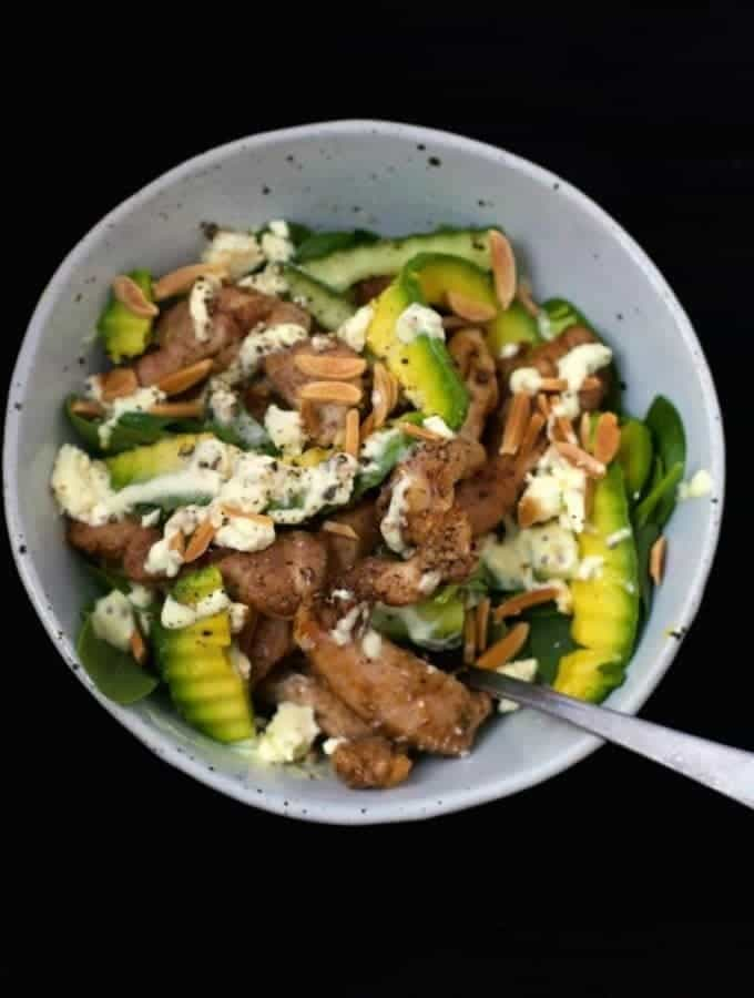Mad Creations Chicken Avocado Almond Salad