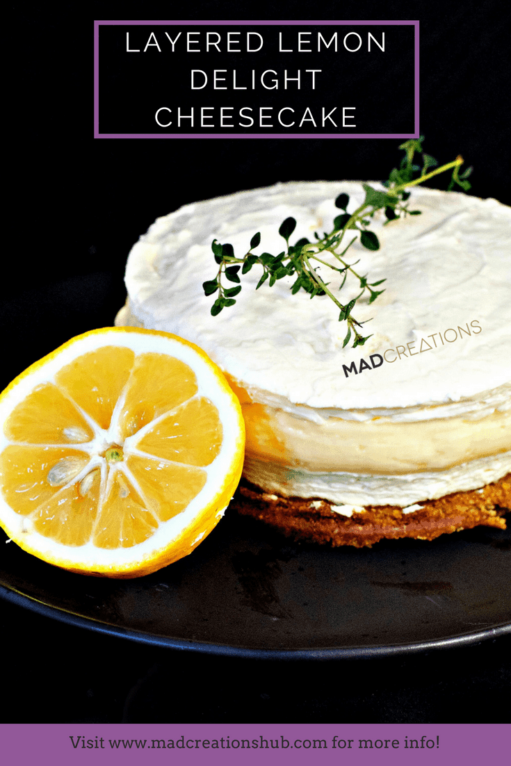 Mad Creations Lemon Layered Delight Keto Cheesecake