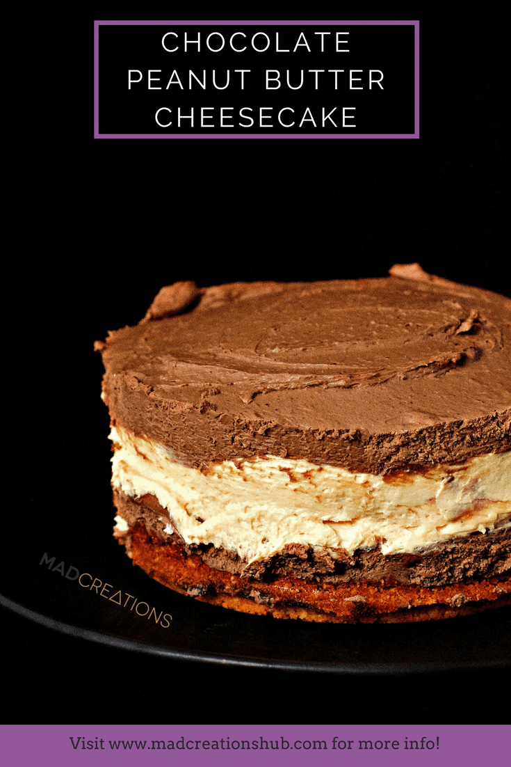 Mad Creations Chocolate Peanut Butter Cup Keto Cheesecake