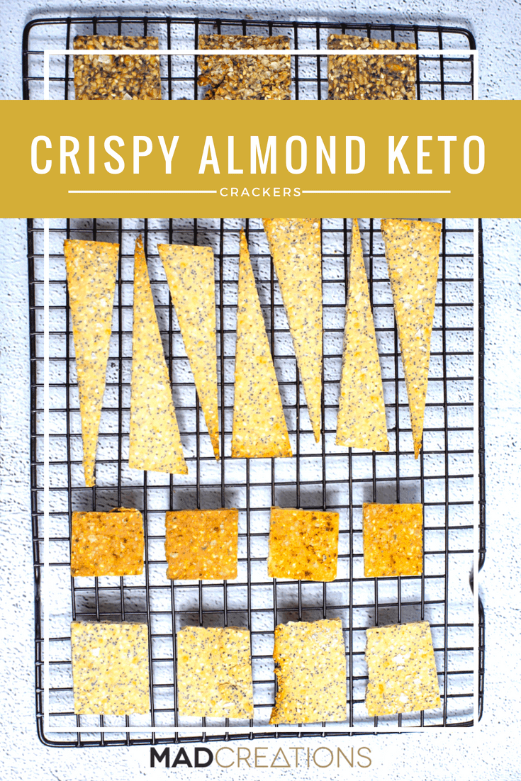 Whether you are gluten free, or keto these almond crackers are RIDICULOUSLY EASY to make but INSANELY tasty too. You have to try this simple recipe that is so good for you #glutenfree #grainfree #LCHF #ketogenicdiet #keto #lowcarb