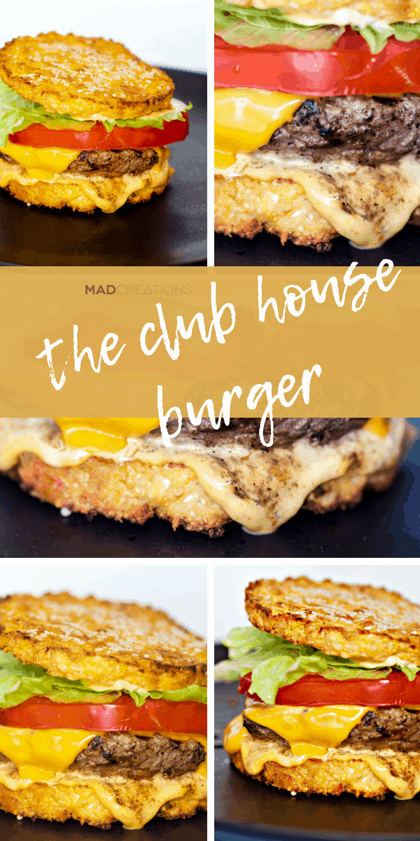 Mad Creations most delicious Keto Burger The Clubhouse Burger #ketodiet #glutenfree