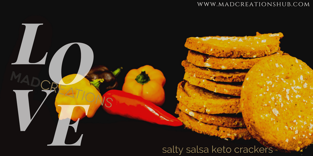 Mad Creations Salty Salsa Keto Crackers