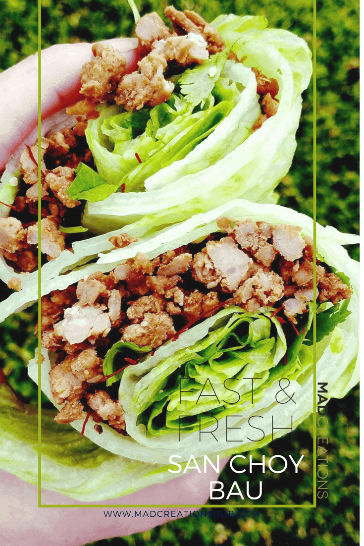 Mad Creations San Choy Bau wrapped in lettuce