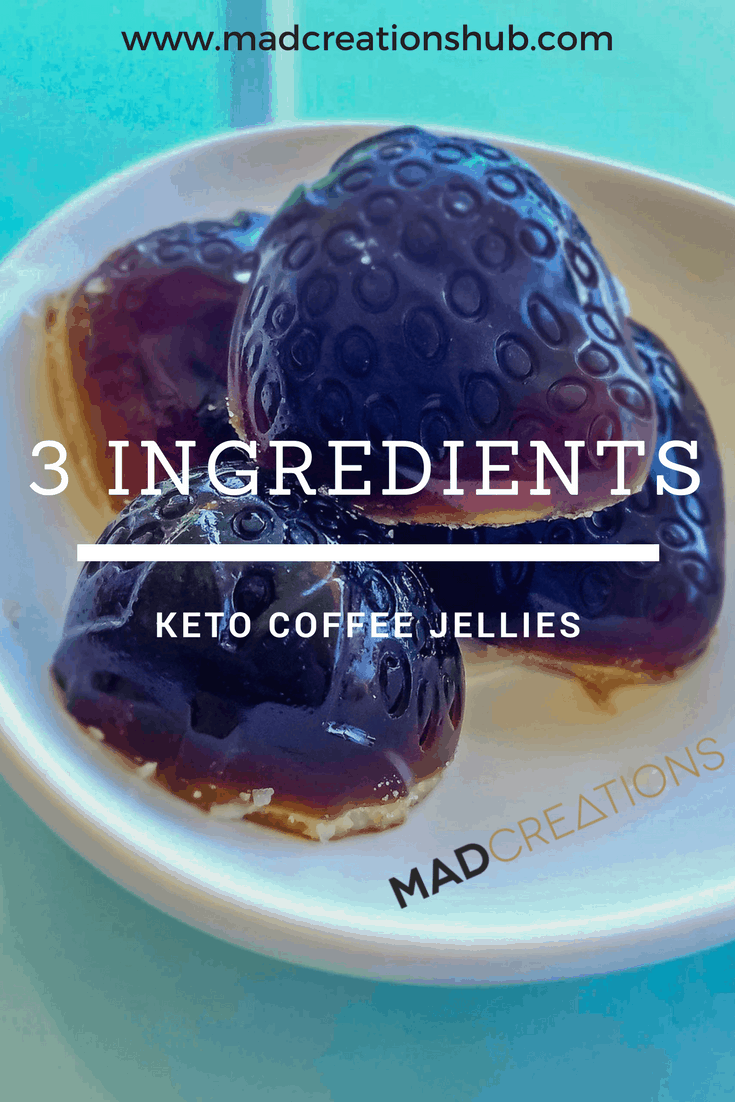 Mad Creations 3 Ingredient Keto Coffee Jellies #ketodiet #ketosnacks #ketogenicdiet