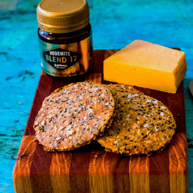 Vegemite & Cheese Keto Crackers