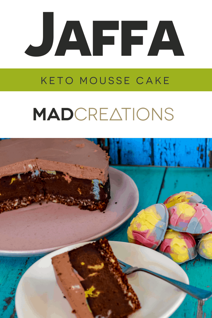 MAD CREATIONS JAFFA MOUSSE KETO CAKE