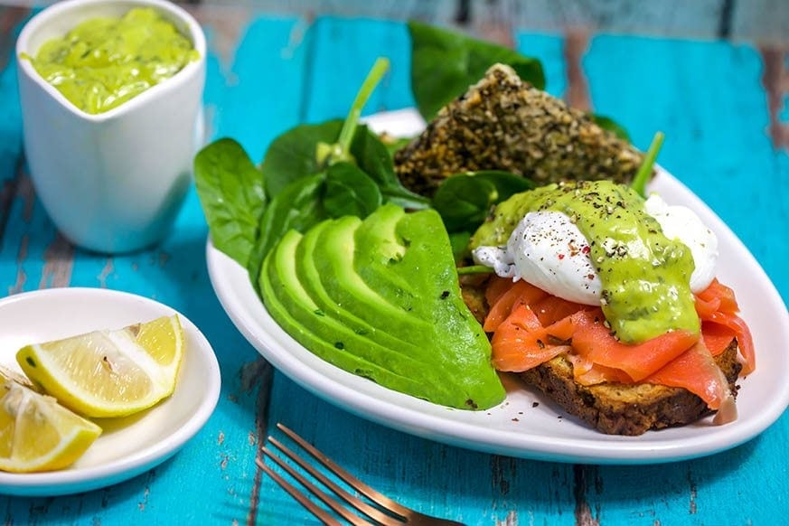 Mad Creations Green eggs Benedict on daily keto bread #ketobread #glutenfree