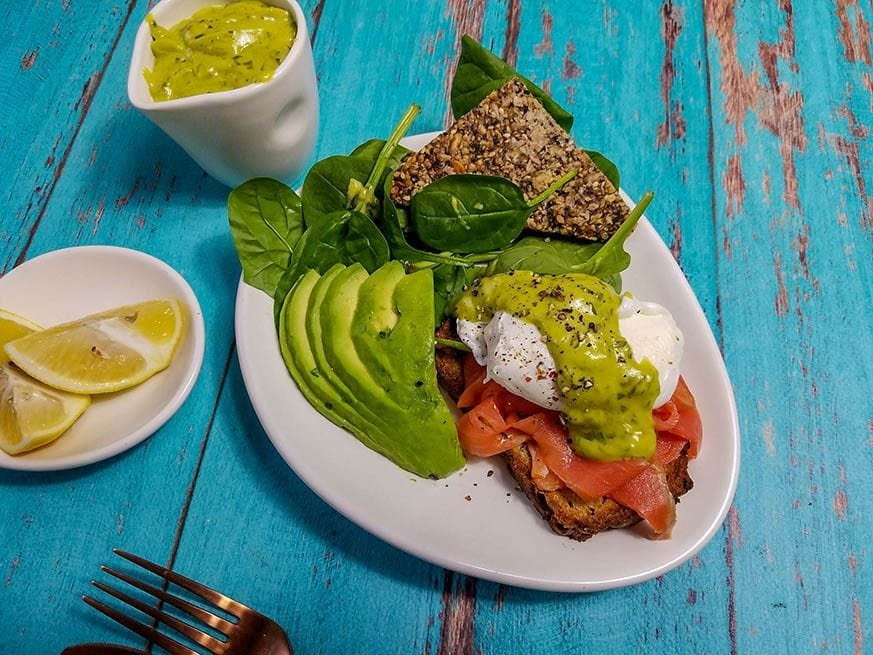 Mad Creations Eggs Benedict with Smoked Salmon in Week 3 Meal Plan