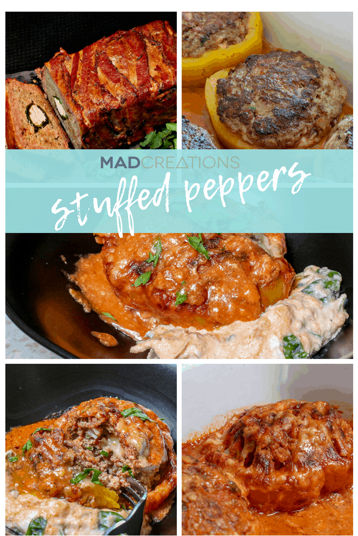 Mad Creations Double Stuffed Keto Peppers #ketomeals #lowcarbrecipes #winterwarmers