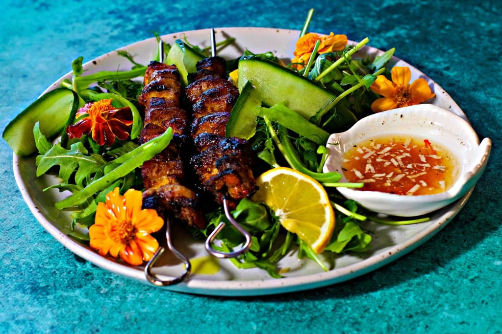 Mad Creations Pork Kebabs with spiced vinegar and salad #gettingstarted #savour #ketodiet
