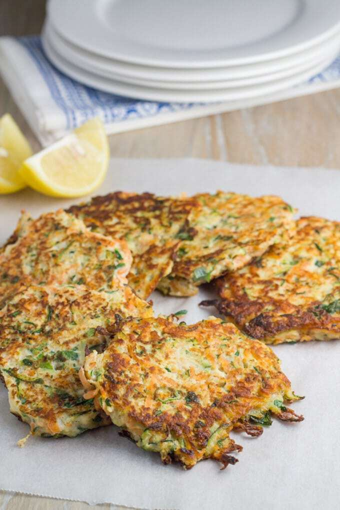 Becomingness Zucchini and Sweet Potato Fritters #lowcarb
