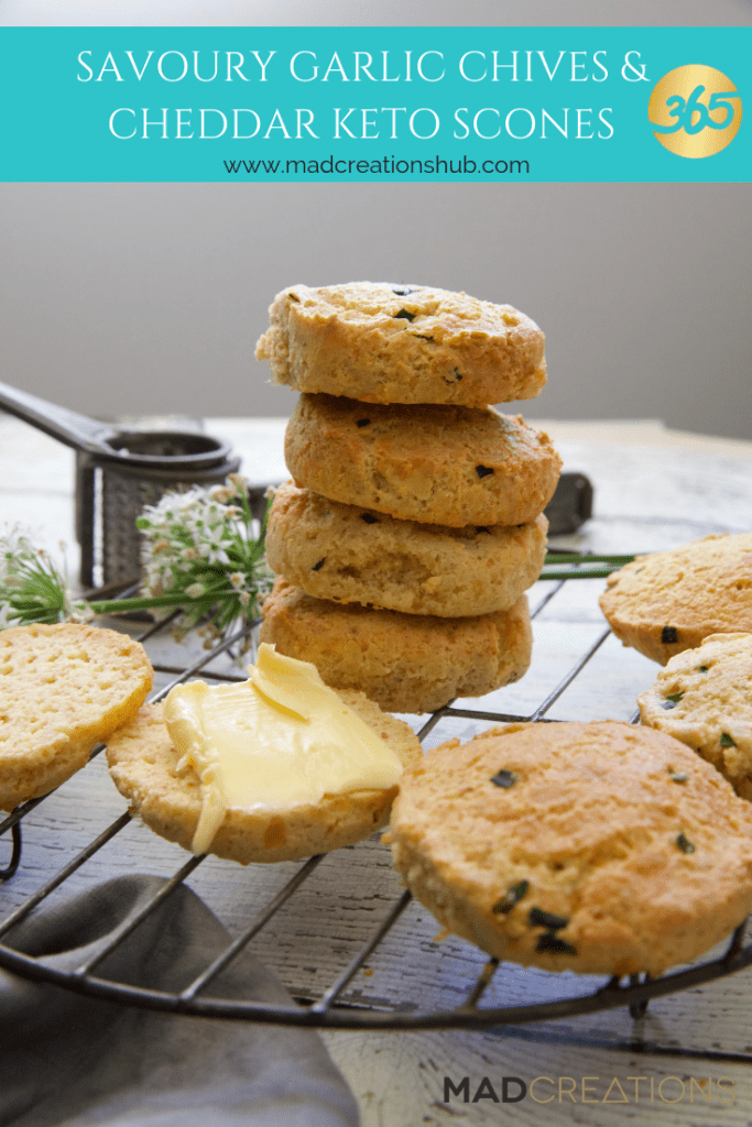 Mad Creations Savoury Garlic Chives & Cheddar Keto Scones