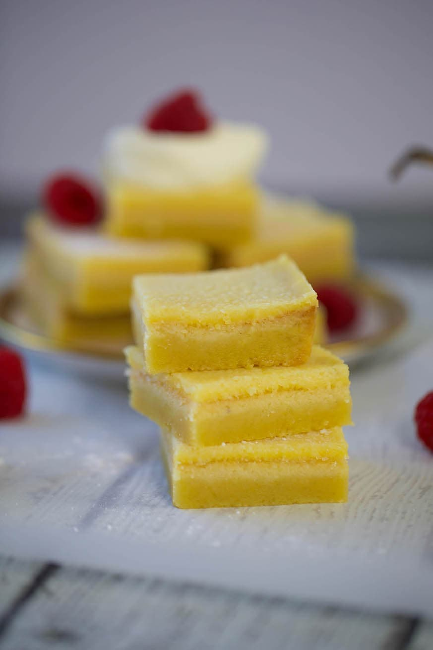 Mad Creations Keto Lemon Bars 3 stack