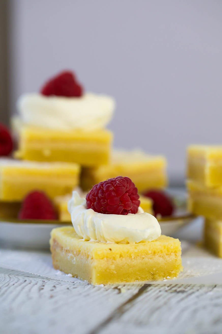 Lemon Bars piled high