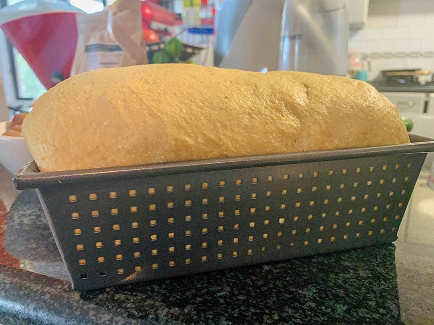 low carb bread in loaf tin