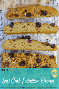 Mad Creations Low Carb Focaccia in pan