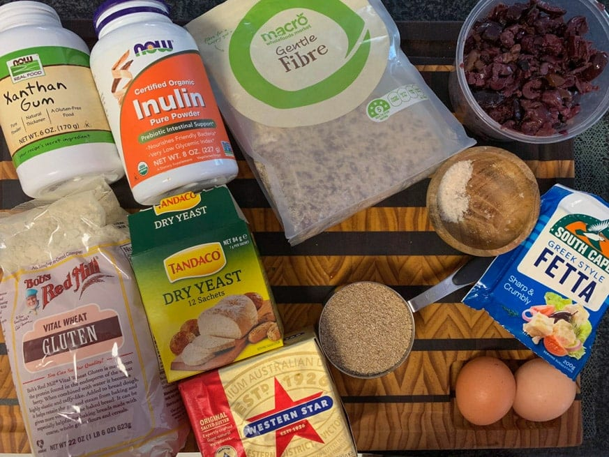 Ingredients for low carb bread