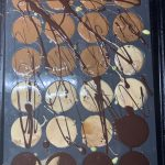 Chocolate caramel tarts in silicone mould