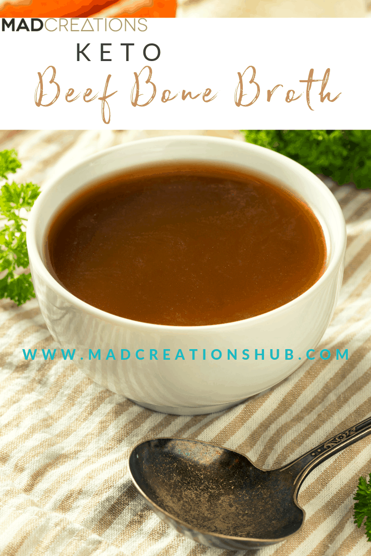 Mad Creations Beef Bone Broth banner for pinterest